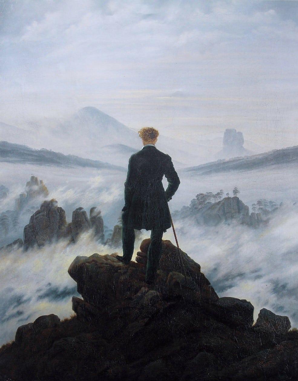 ドイツ・ロマン主義絵画の代表的画家、カスパー・ダビッド・フリードリヒの 『Der Wanderer über dem Nebelmeer』